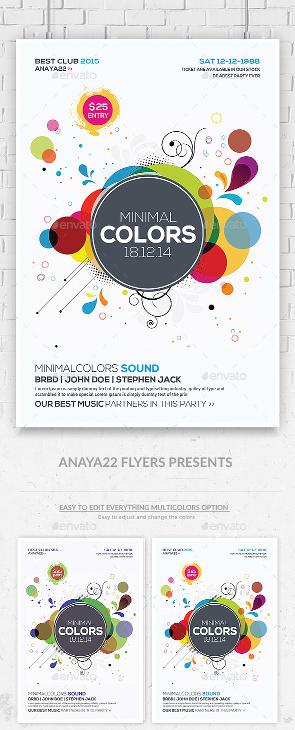 Abstract Future Flyer Psd Template - Clubs & Parties Events