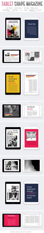 Ipad & Tablet Shape Magazine - Digital Magazines ePublishing