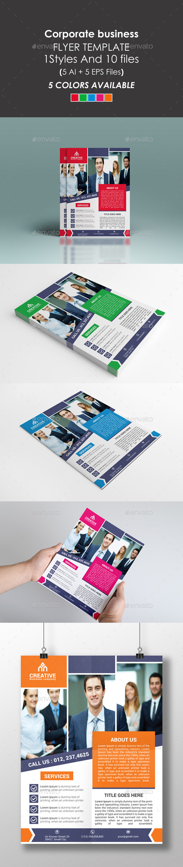 Clean Corporate Flyer - Flyers Print Templates