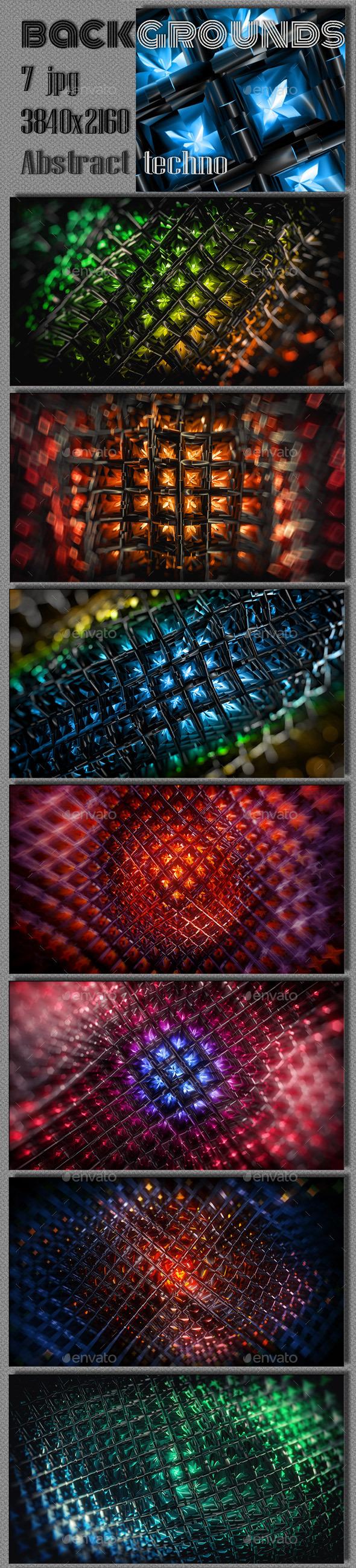 Techno Fiery Cluster Background - Tech / Futuristic Backgrounds