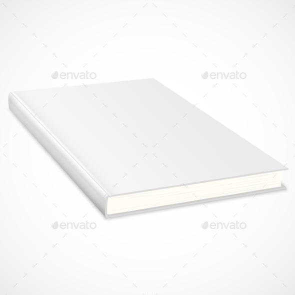 Empty Book with White Cover - Objects Vectors