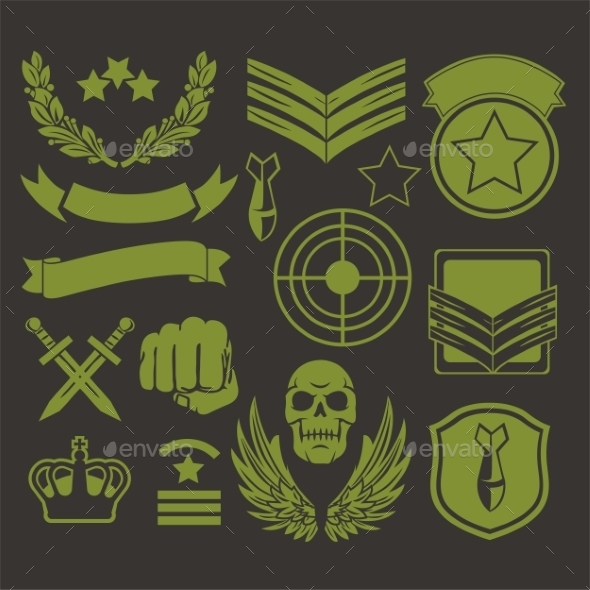 Special Unit Military Patches - Decorative Symbols Decorative