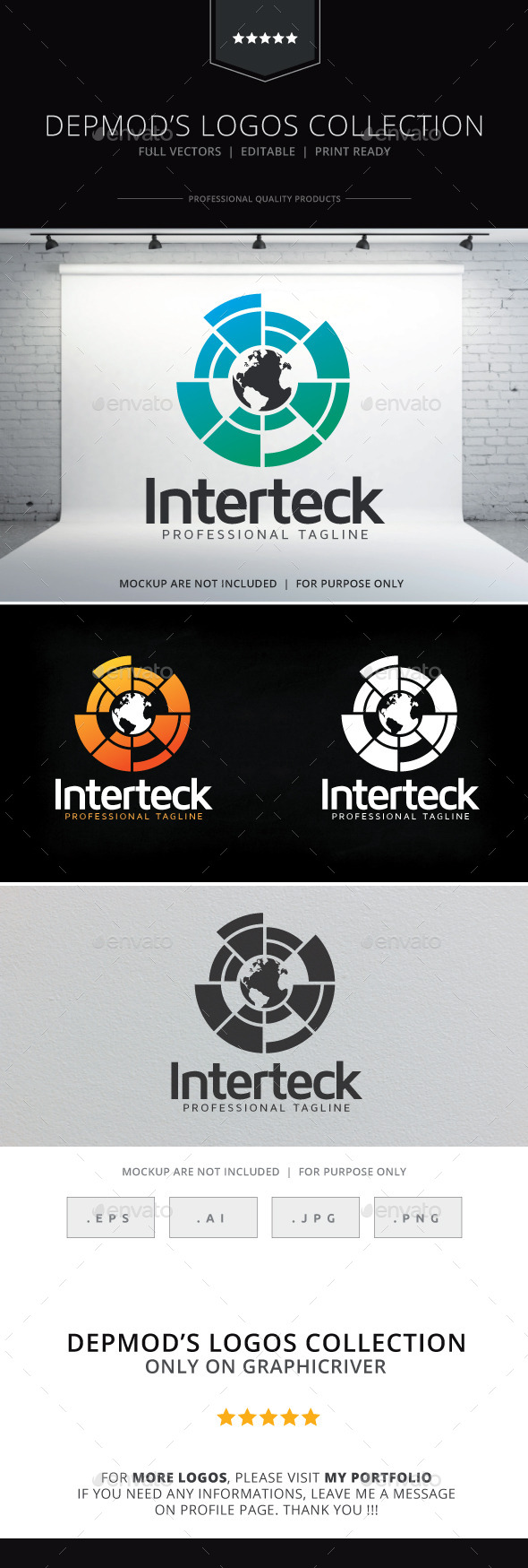 Interteck Logo - Symbols Logo Templates