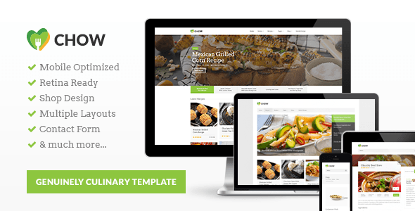 Chow - Recipes & Food HTML5 Template