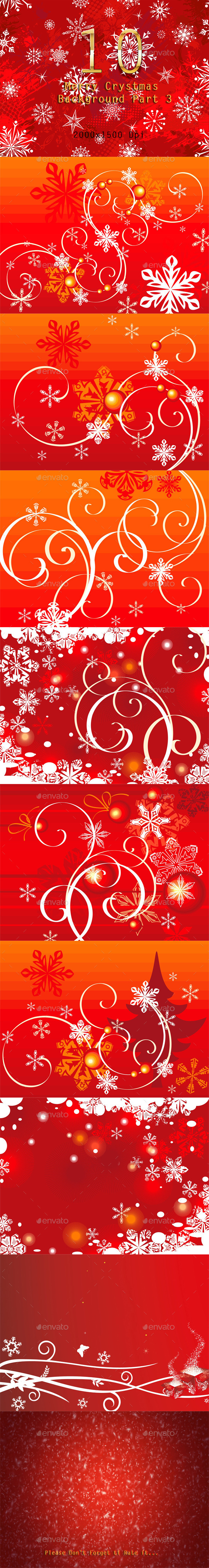 10 Merry Christmas Background Part 3 - Backgrounds Graphics