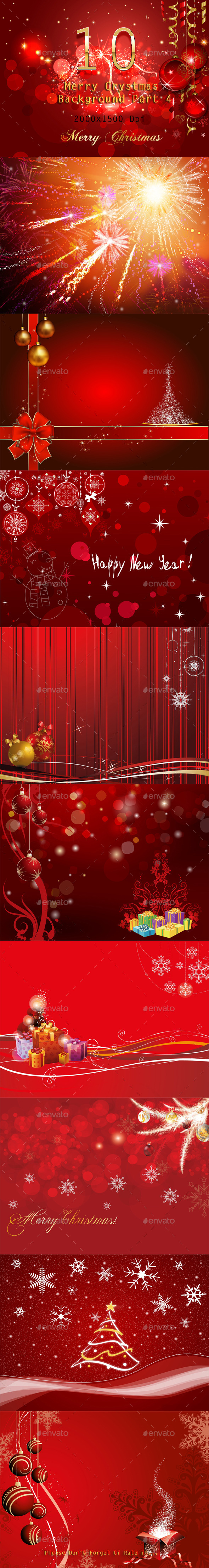 10 Merry Christmas Background Part 4 - Miscellaneous Backgrounds