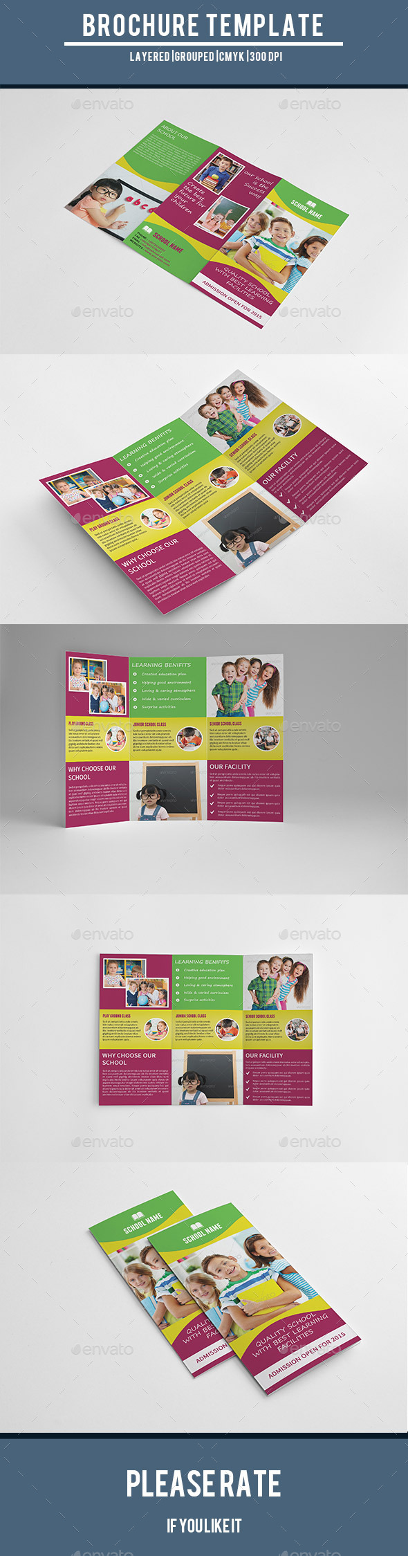 Kids School Admission Trifold Brochure-V196 - Corporate Brochures