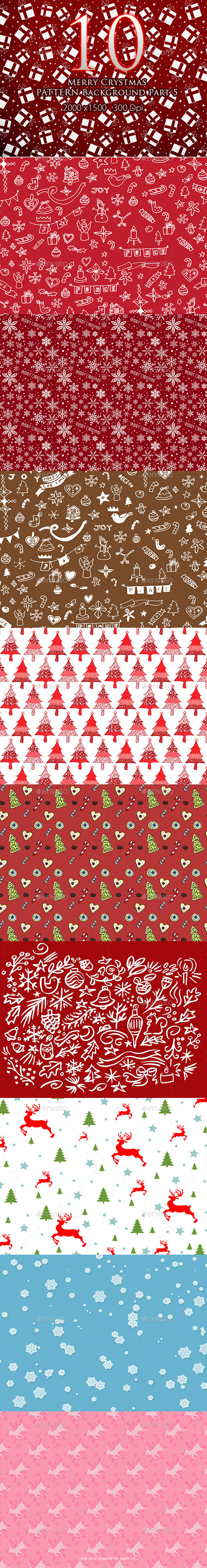 10 Merry Christmas Pattern Background Part 5 - Patterns Backgrounds