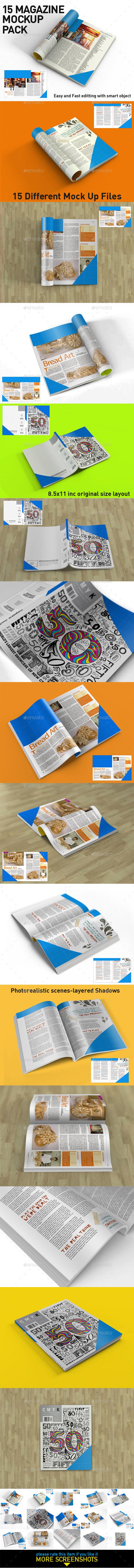 Magazine Mock Up Pack - Magazines Print