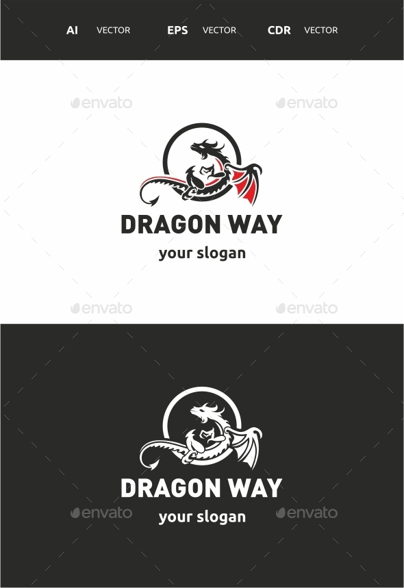 Dragon way - Crests Logo Templates