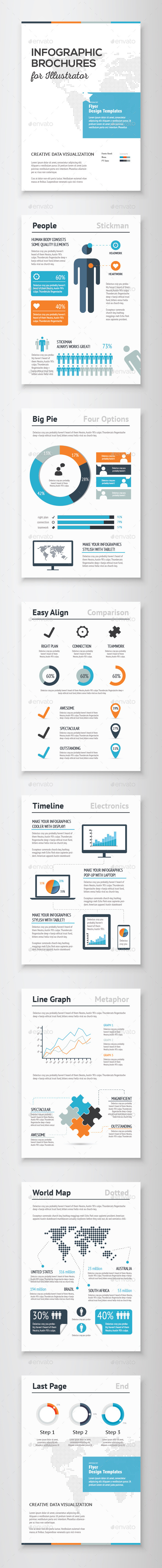 Infographic Brochure Vector Elements Kit 1 - Infographics