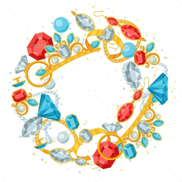 Set of Jewelry and Precious Stones - Services Commercial / Shopping