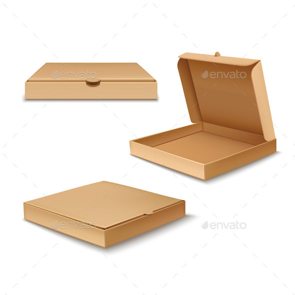 Pizza Boxes - Objects Vectors