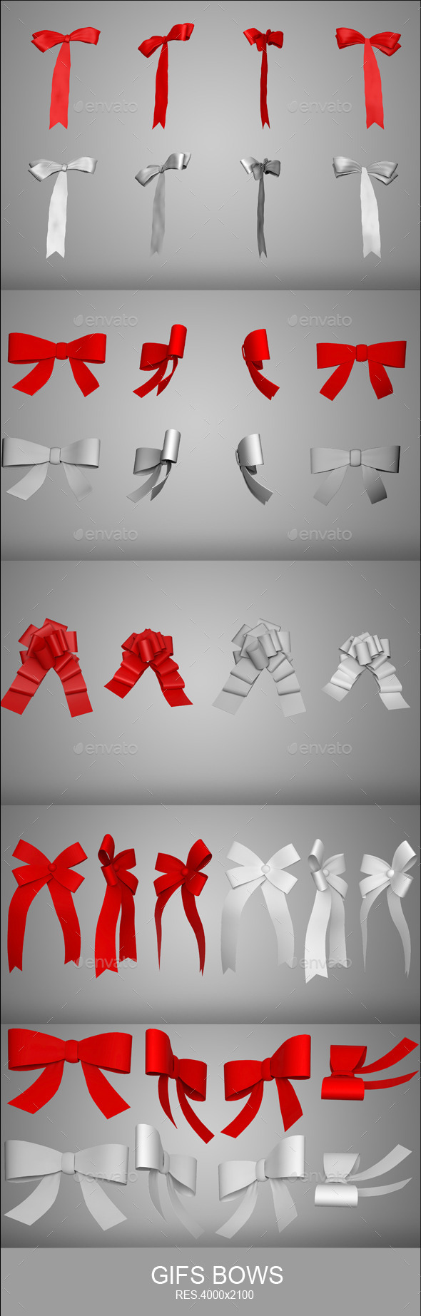 Gift Bows - Objects 3D Renders