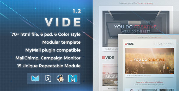 Vide – Responsive Email Template