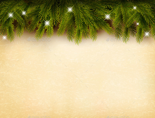 Christmas Branches Background - Christmas Seasons/Holidays