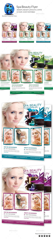 Spa & Beauty Fashion Center Templates flyer - Flyers Print Templates