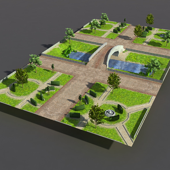Low poly Park - 3DOcean Item for Sale