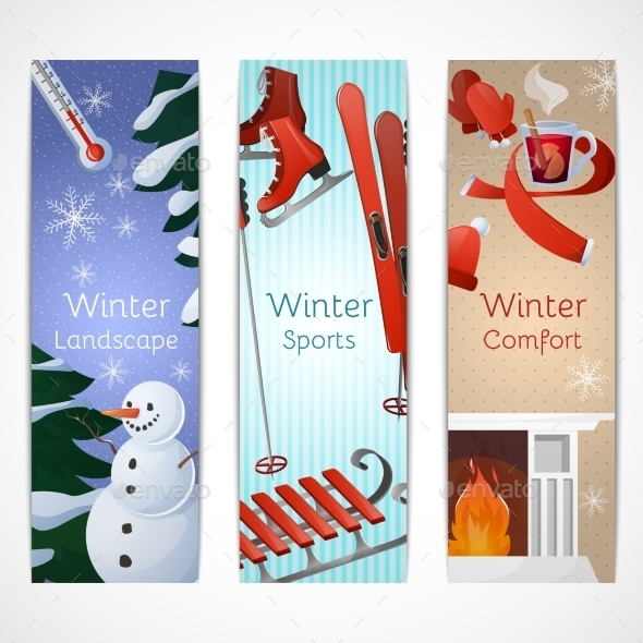 Winter Banners Set - Miscellaneous Seasons/Holidays