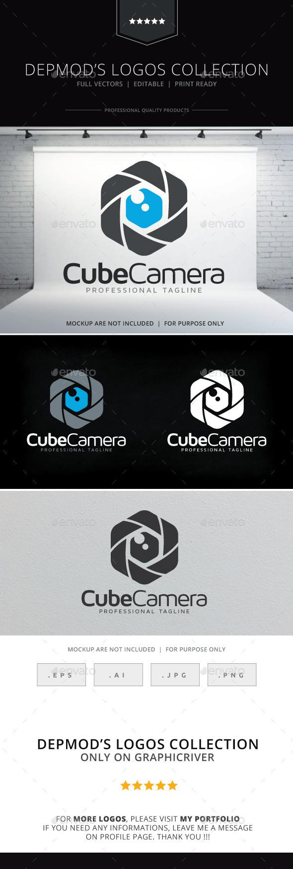Cube Camera Logo - Symbols Logo Templates