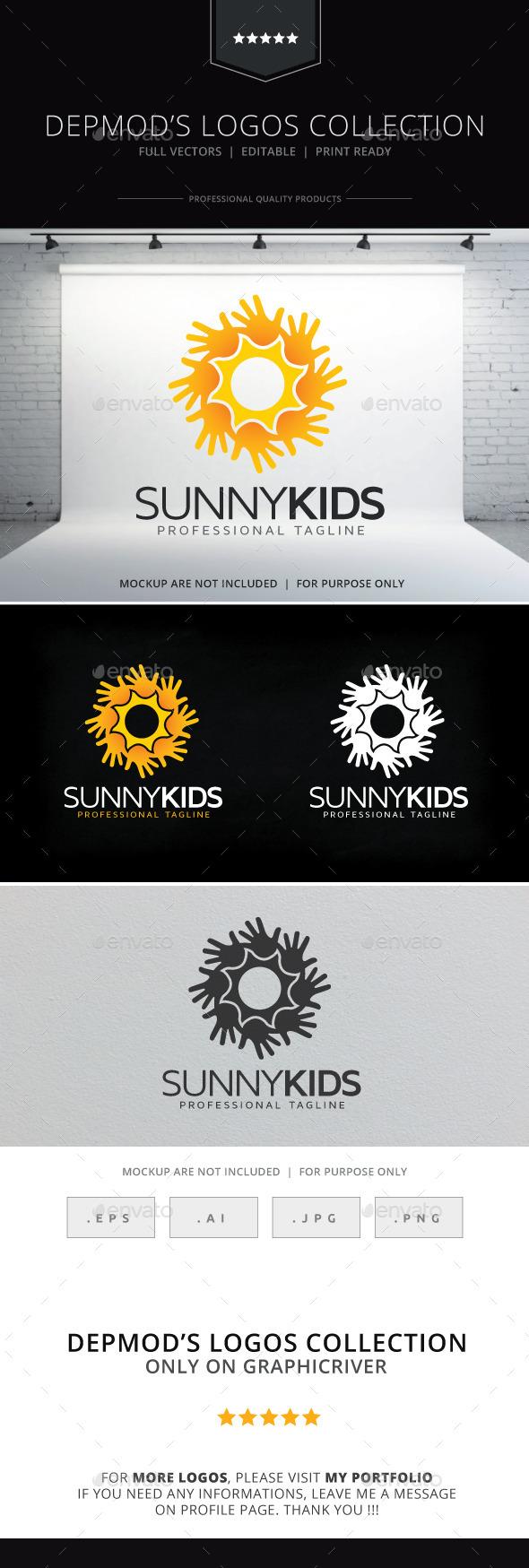 Sunny Kids Logo - Symbols Logo Templates