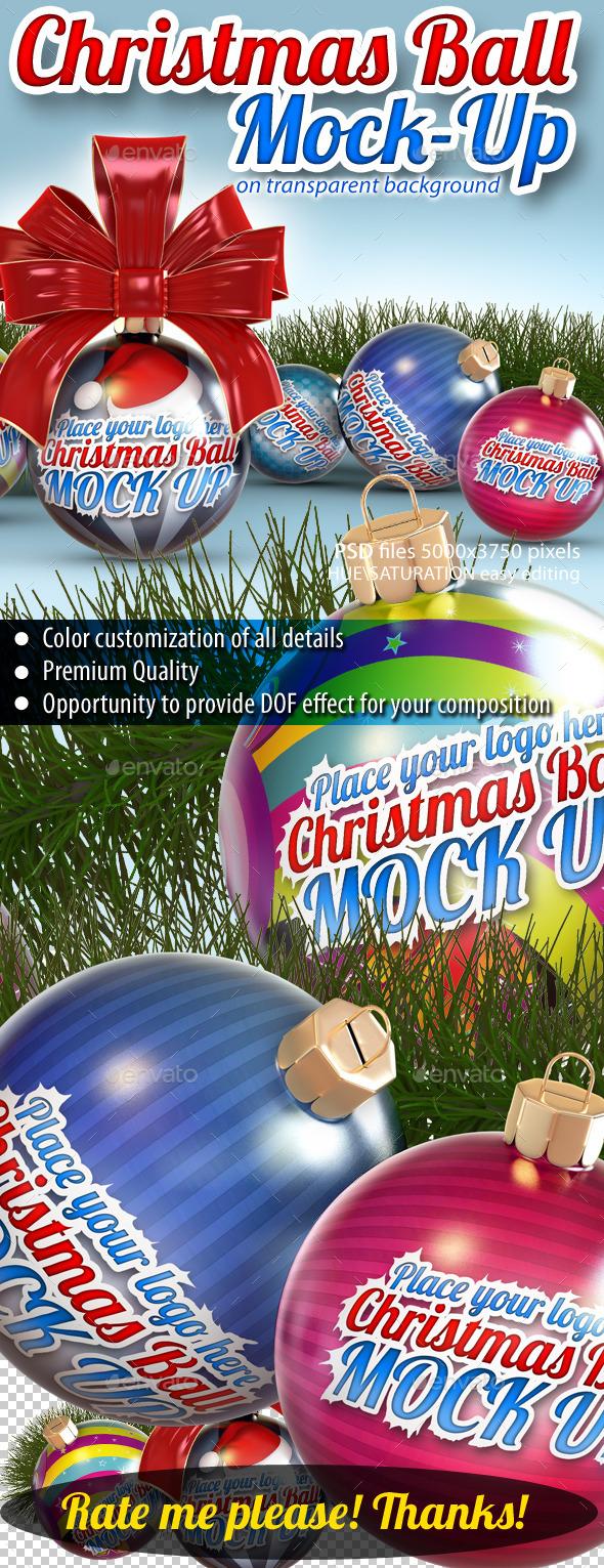 Christmas Balls Mock-Up - Miscellaneous Print