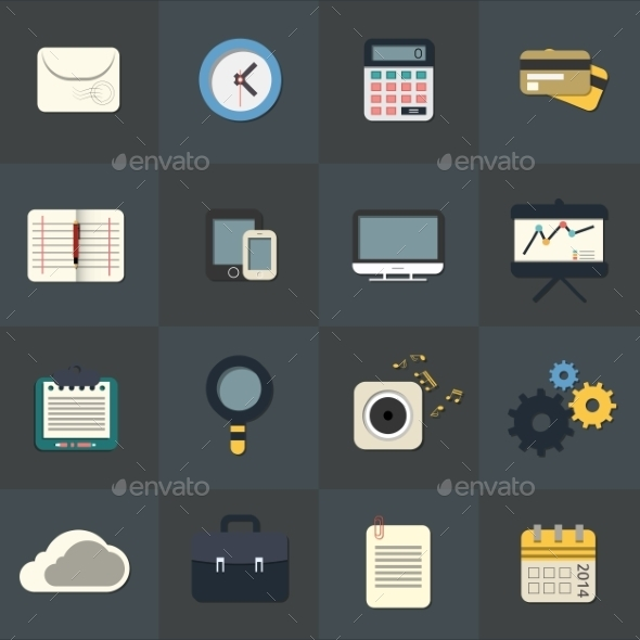 Flat Icons for Web and Mobile Applications - Web Technology