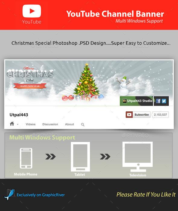 Christmas Youtube Channel Banner - YouTube Social Media