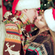 Attractive Couple In Santa Hat And Waving Sparkler - VideoHive Item for Sale