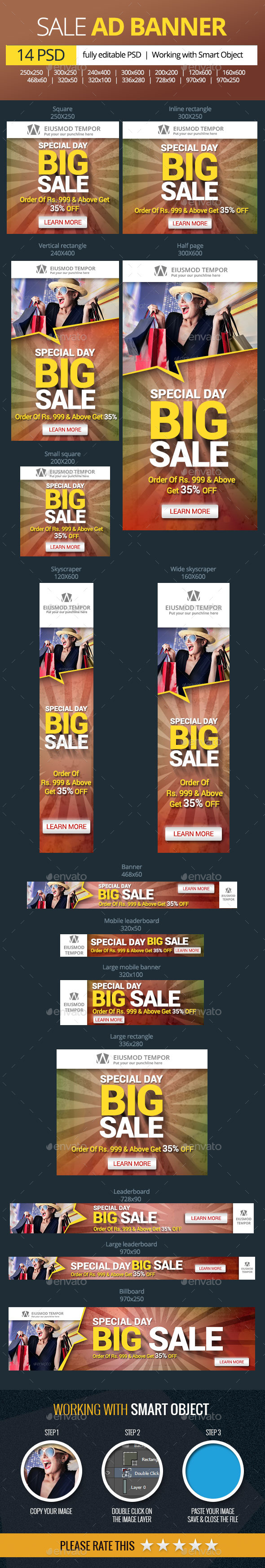 Multipurpose Sale Banner - Banners & Ads Web Elements