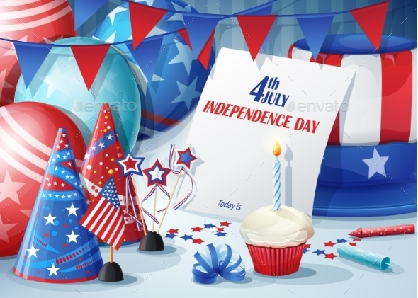 Greeting Card Independence Day - Birthdays Seasons/Holidays
