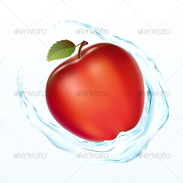 Apple with a wate - Food Objects