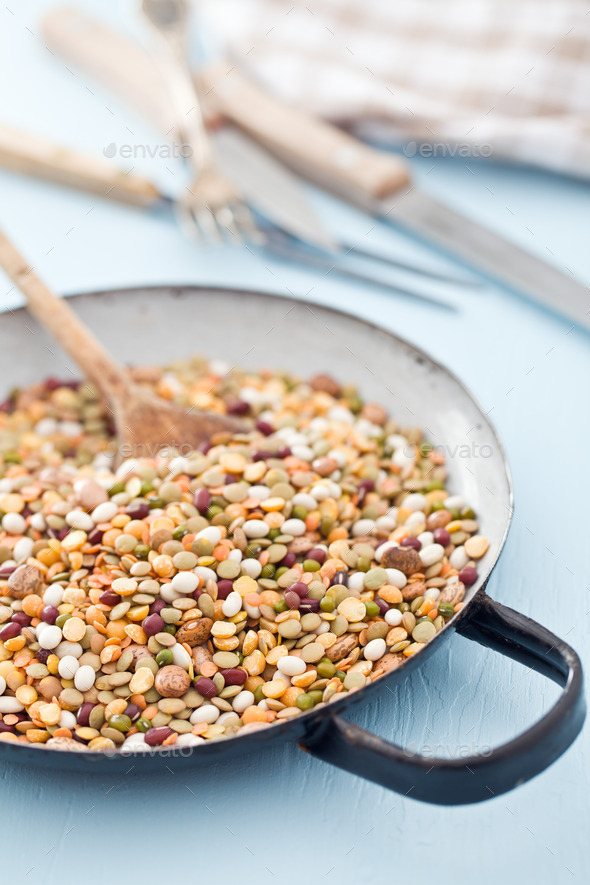 mixture of legumes - Stock Photo - Images