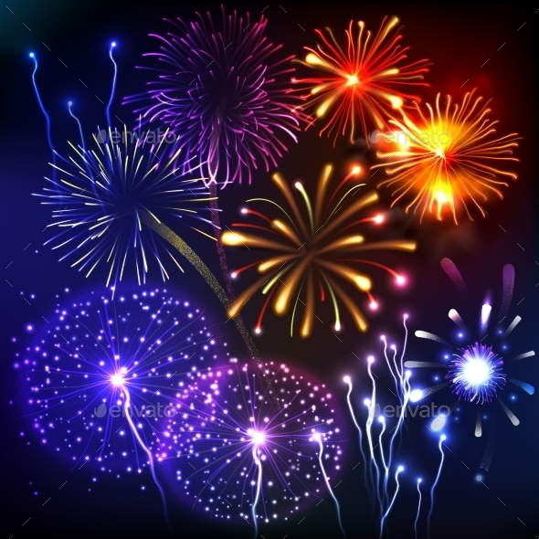 Fireworks Show Background - Backgrounds Decorative
