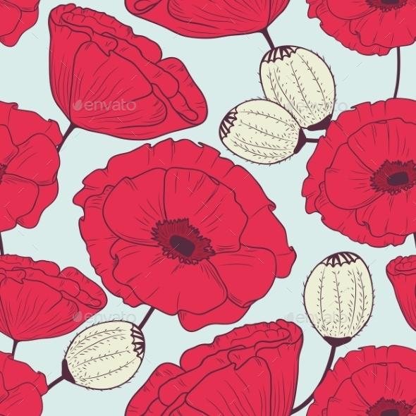 Poppy Pattern - Patterns Decorative