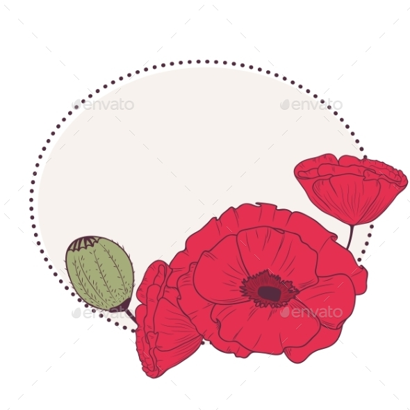 Poppy Frame - Backgrounds Decorative