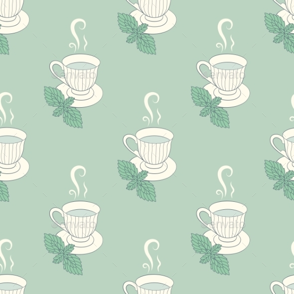 Tea Mint Pattern - Patterns Decorative