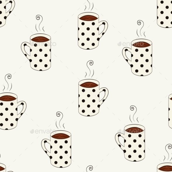 Dotted Cups Pattern - Backgrounds Business