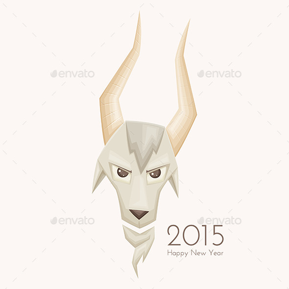Goat with Straight Horns - Animals Characters
