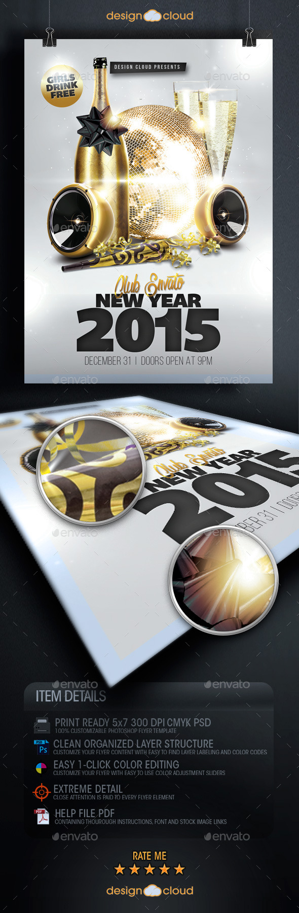 New Year's Event Flyer Template Vol. 1 - Holidays Events