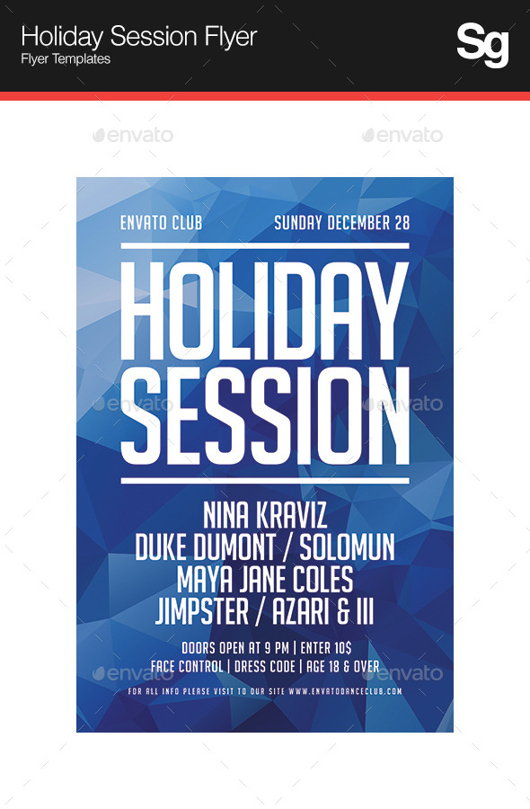 Holiday Session Flyer - Holidays Events