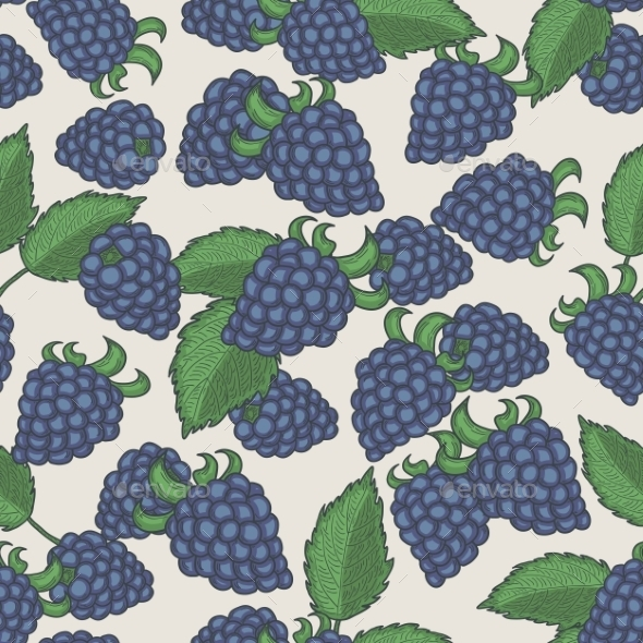 Blackberries Pattern - Backgrounds Decorative
