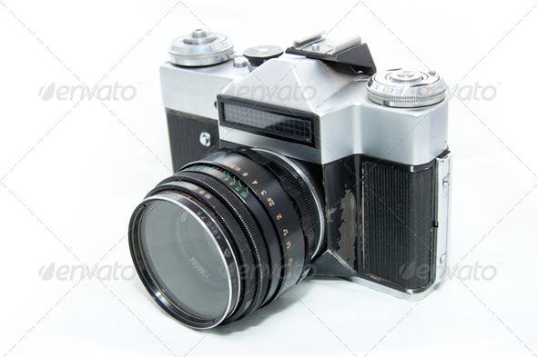 Retro camera - Stock Photo - Images