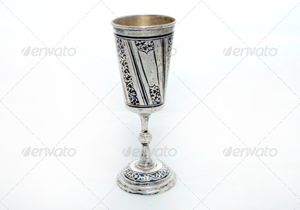 Old silver cup - Stock Photo - Images