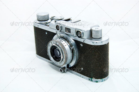 Old photo camera - Stock Photo - Images