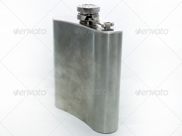 Metal flask - Stock Photo - Images