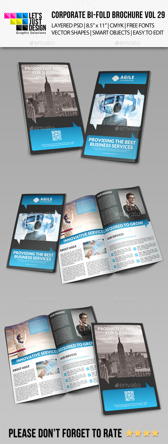 Creative Corporate Bi-Fold Brochure Vol 29 - Corporate Brochures