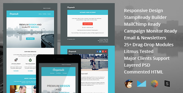 Corporate – responsive email newsletter templates