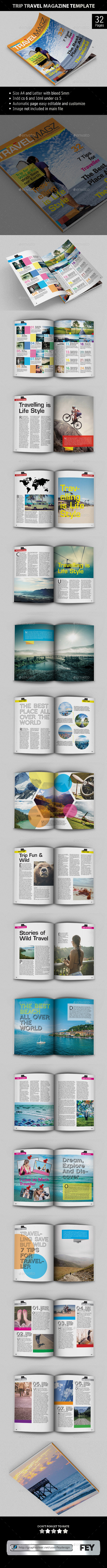 Trip Travel - Magazine Template - Magazines Print Templates