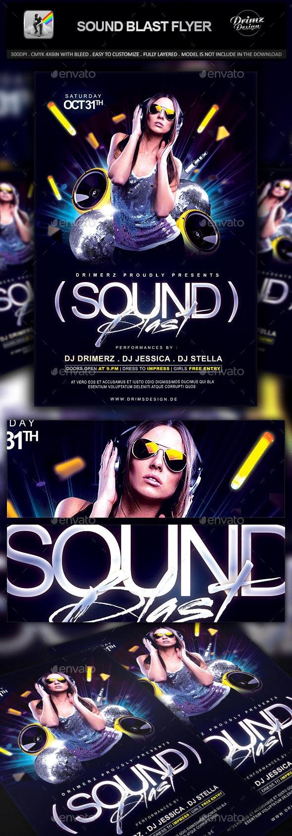 Sound Blast Flyer - Events Flyers